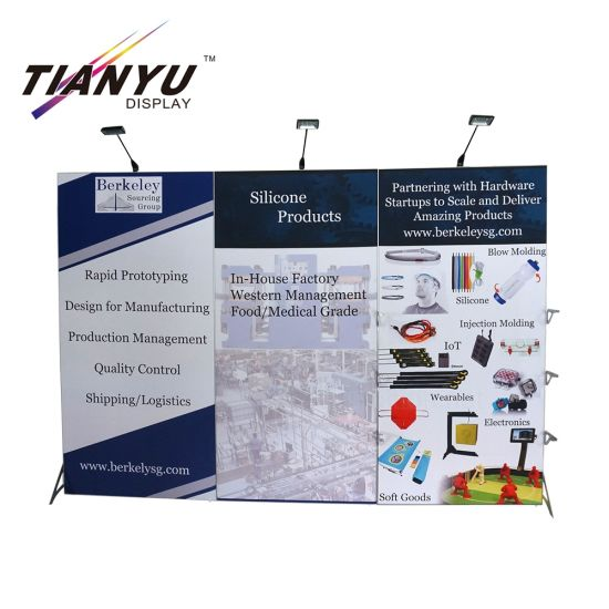 Fondale pieghevole Exhibition fai da te Booth parete del PVC del Pop magnetico up display banner