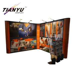 Trade Show Booth pieghevole Pop up della bandiera Exhibition Display Stand