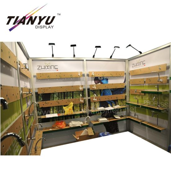 Tian Yu Do Isola Exhibition Booth stand Piedi design 10X10 con ripiano sistema